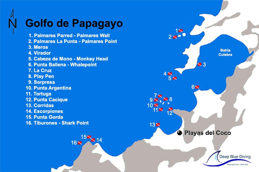 divesites golfo de papagayo deep blue diving
