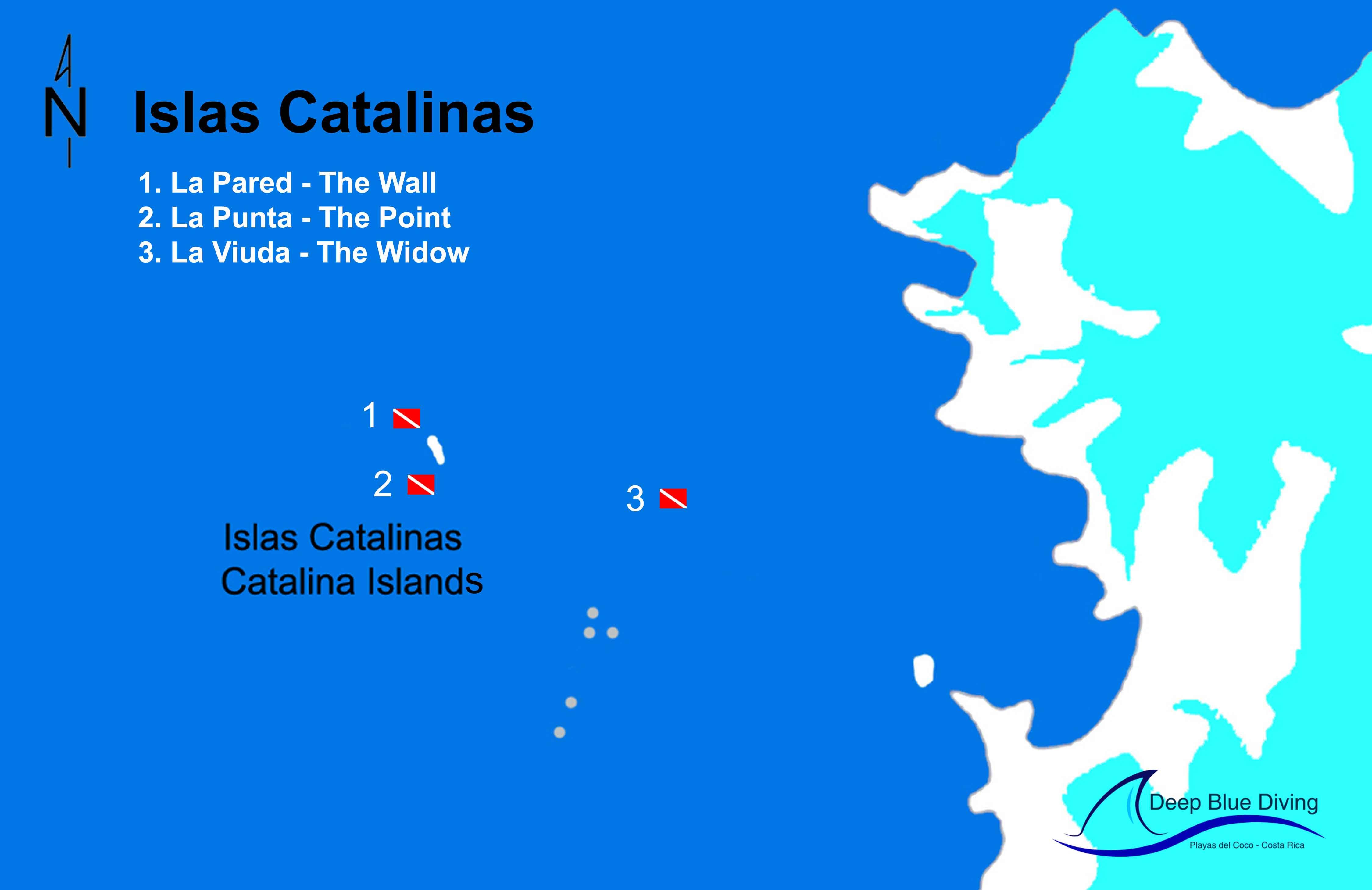 Catalina dive site map